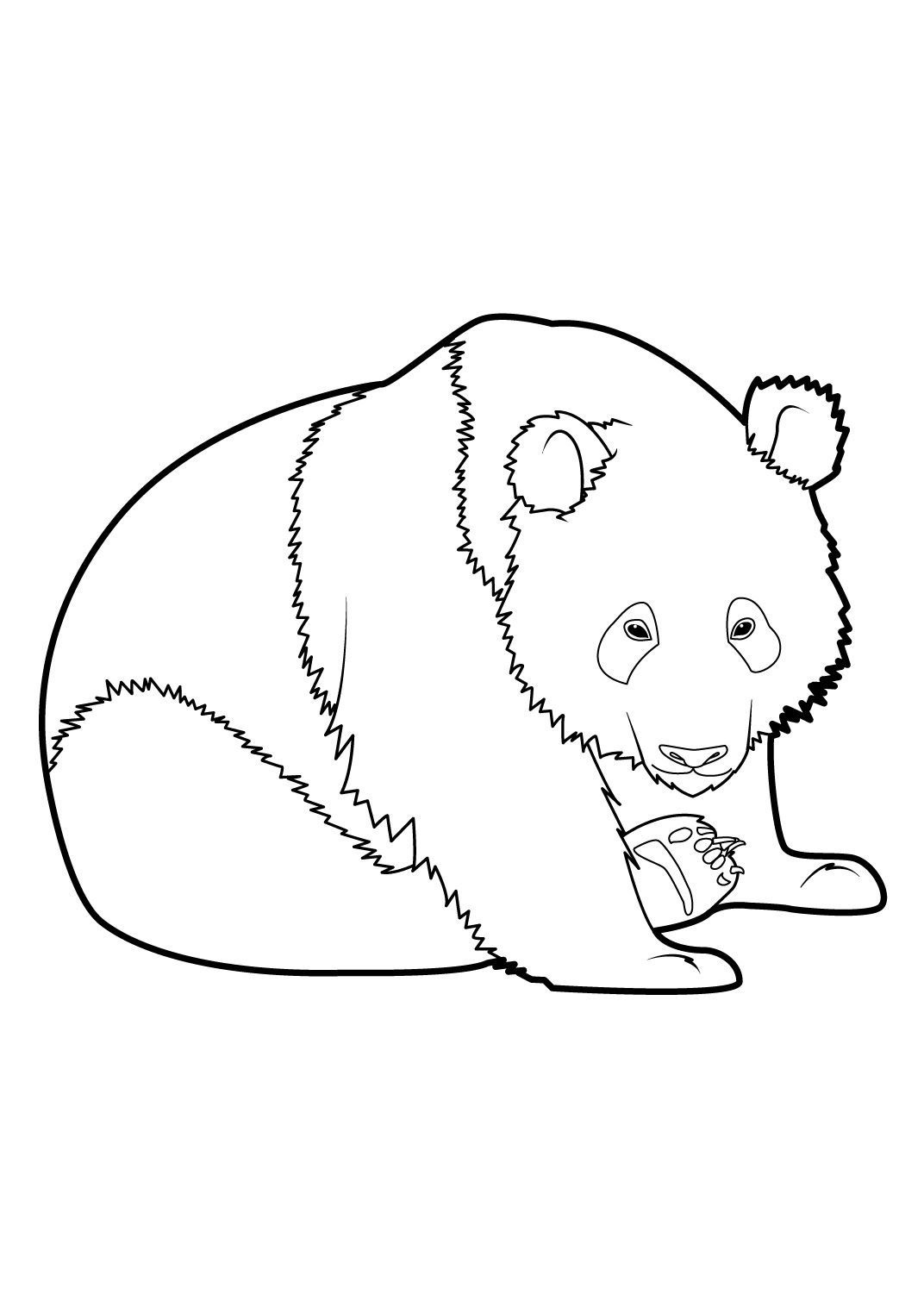 Coloriage Panda 8 - Coloriage Pandas - Coloriages Animaux