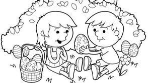 enfants, coloriages, Pâques, TiJi, les coloriages de Pâques sur TiJi.fr