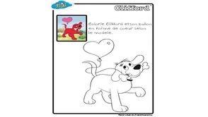 Coloriage guidé Clifford