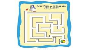 Labyrinthe des Ozei Boo à imprimer sur le site de TiJi !