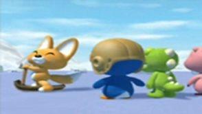 Pororo et ses amis s'amusent sur la banquise