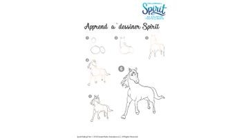 Spirit riding free spirit and lucky coloring page books - Comment dessiner spirit ...