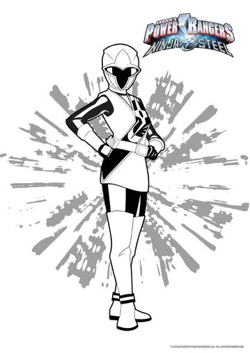 coloriages power rangers ninja steel - Coloriage Gratuit
