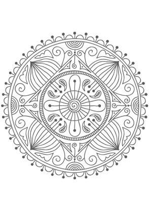 Coloriage Mandala Nature.Coloriage Mandala Nature Coloriage Mandalas Coloriages Chiffres