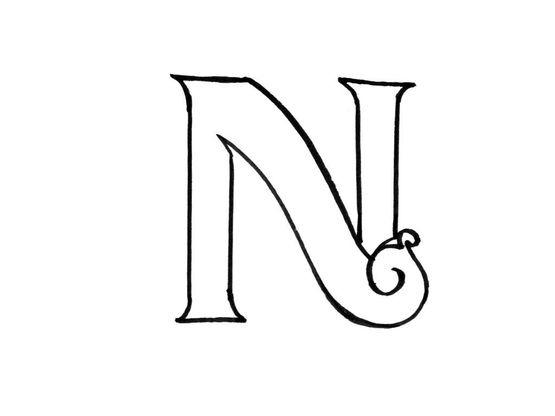 coloriage lettre n - coloriage lettres