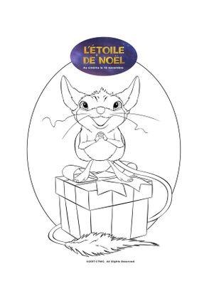 Coloriage la petite souris coloriage l etoile de noel - Coloriage petite souris ...