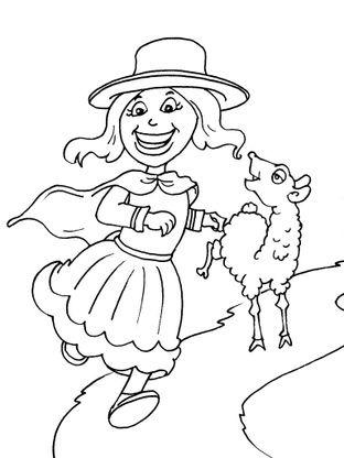 Coloriage petite fille inca 24 coloriage enfants filles - Coloriage personnage fille ...
