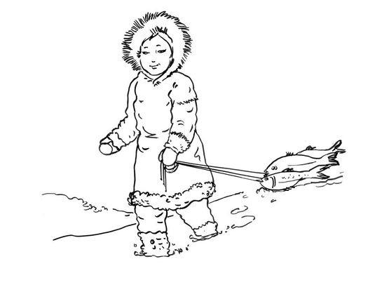 Coloriage petite fille inuit 2 coloriage enfants filles - Coloriage personnage fille ...