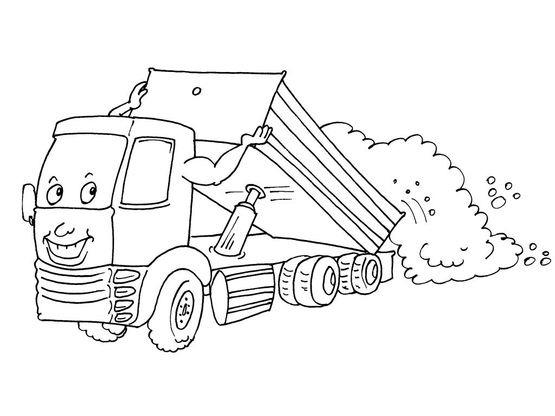 Coloriage camion 28 coloriage camions coloriages - Coloriage camion de poubelle ...